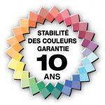 Logo stabilité des couleurs garantie 10 ans - Revetements de caoutchouc ABPURE